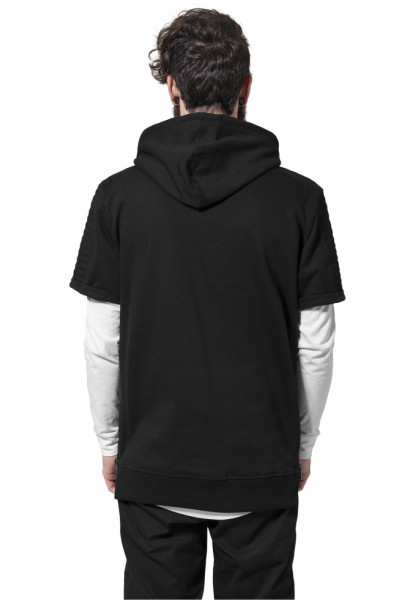 Short Sleeve Side Zipped Hoody