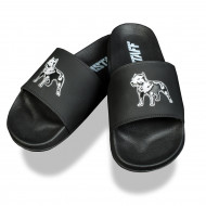 Amstaff Dogs Bay Slides - black