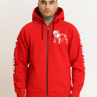 Amstaff Logo 2.0 Ziphoodie red/white