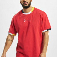 Karl Kani T-shirt Signature Ringer Tee red/navy/grey/yellow