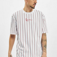Karl Kani T-shirt Small Signature Pinstripe Tee white