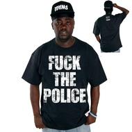 COCAINE LIFE FUCK THE POLICE T-SHIRT BLACK