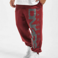 DANGEROUS DNGRS MEN SWEAT PANT CLASSIC DARK RED ANTHRACITE