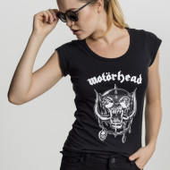 Ladies Motorhead Logo Cutted Back Tee