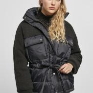 Ladies Sherpa Mix Puffer Jacket