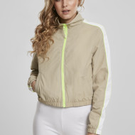 Ladies Short Piped Track Jacket