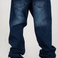 Mass Denim Jeans Slang Baggy Fit dark blue