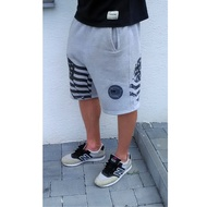 COCAINE LIFE US FLEECE SHORT GREY BLACK