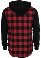 """Hooded Checked Flanell Sweat Sleeve Shirt"""""""""""