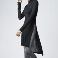 Ladies Fine Knit Turtleneck Long Shirt