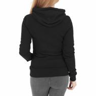 Ladies Melange Shoulder Quilt Hoody