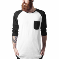 Long Raglan 34 Sleeve Pocket Tee