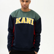 Karl Kani Sweatshirt College Block Crew navy/green/red/yellow/white