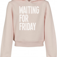 Kids Waiting For Friday Cropped Hoody