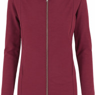 Ladies Long Melange Zip Hoody