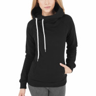 Ladies Raglan High Neck Hoody