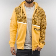 Dangerous DNGRS Overwear / Zip Hoodie All Over II in yellow*