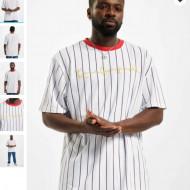 Karl Kani Men T-Shirt Originals Pinstripe in white