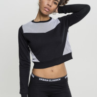 Ladies Cropped Mesh Terry Crew