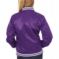 Ladies Shiny College Jacket