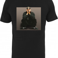 Tupac Sitting Pose Tee black L