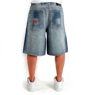 2-PAC BASIC LOGO DENIM SHORTS BLUE