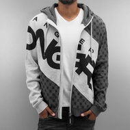 Dangerous DNGRS Overwear / Zip Hoodie Veli in grey*