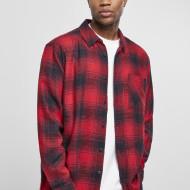 Oversized Checked Grunge Shirt