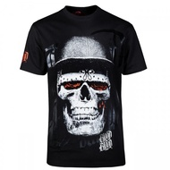 Blood Skull Black Hat T-Shirt