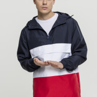 Color Block Pull Over Jacket