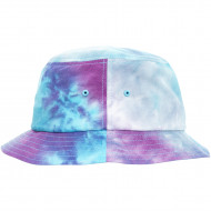 Festival Print Bucket Hat purple turquoise one size