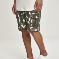 Geometric Camo Stretch Twill Cargo Shorts