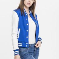 Ladies 2-tone College Sweatjacket