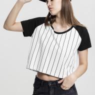 Ladies Cropped Baseball Tee