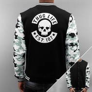 Thug Life Jacket / College Jacket Ragthug in black*