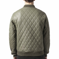Diamond Quilt Leather Imitation Jacket