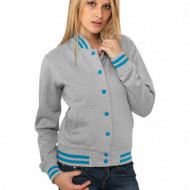 Ladies Metallic College Sweatjacket