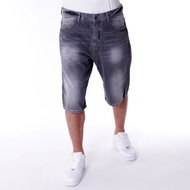 PELLE PELLE BUSTER BAGGY DENIM SHORT CLOUD
