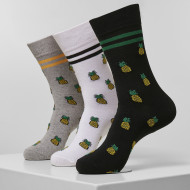 Recycled Yarn Pineapple Socks 3-Pack
