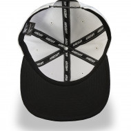 Timus Snapback Cap - white/black