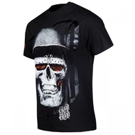 Blood Skull Black Hat T-Shirt