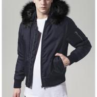 Hooded Basic Bomber Jacket