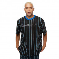 KANI - Originals Pinstripe Tee - black/blue white