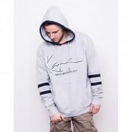 Karl Kani Sweatshirt Signature Block Hoodie grey/navy/white