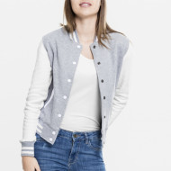 Ladies 2-tone College Sweatjacket