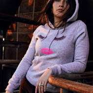 Ladies Eyelashes Hoody