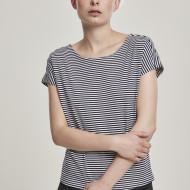 Ladies Yarn Dyed Baby Stripe Tee