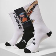 Pizza Art Socks 3-Pack