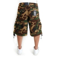 2-PAC ENEMY CARGO SHORTS WOOD CAMO