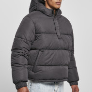 Hooded Cropped Pull Over Jacket